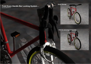 Fold Down Handle Bar Locking System