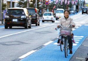 整備進む自転車レーン