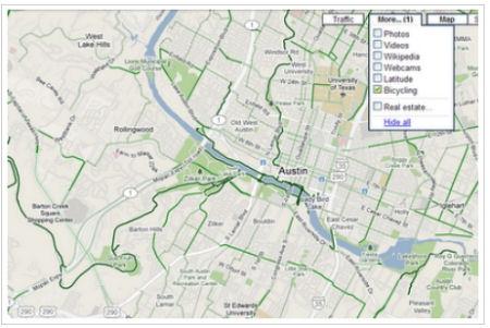 自転車用地図画面