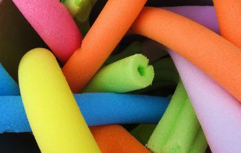 Pool noodles,Photo by ashleigh290,licensed under the Creative Commons Attribution ShareAlike 3.0 Unported.