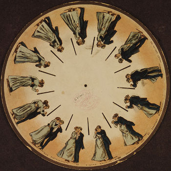 Phenakistoscope, Photo by Eadweard Muybridge, licensed under the Creative Commons Attribution ShareAlike 3.0 Unported.
