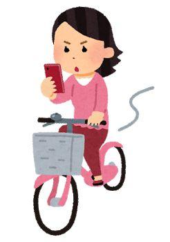 smartphone_jitensya_woman