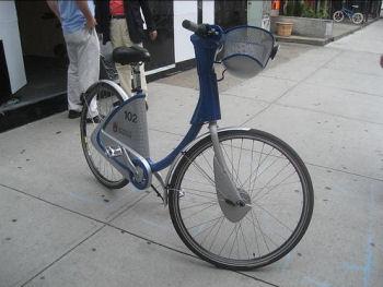 ニューヨークのレンタサイクル