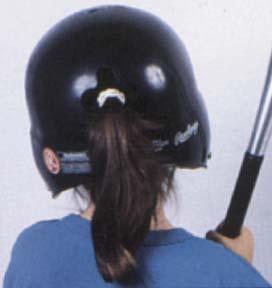 女性用野球ヘルメット