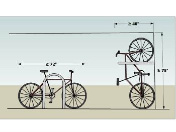 bicycle parking spaces