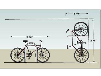 bicycle parking spaces