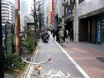歩道上の自転車通行ゾーン