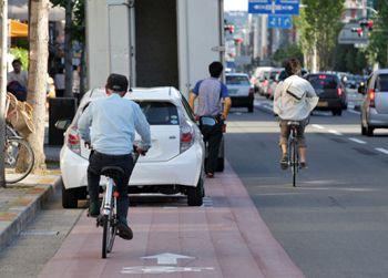 中京区の自転車通行帯