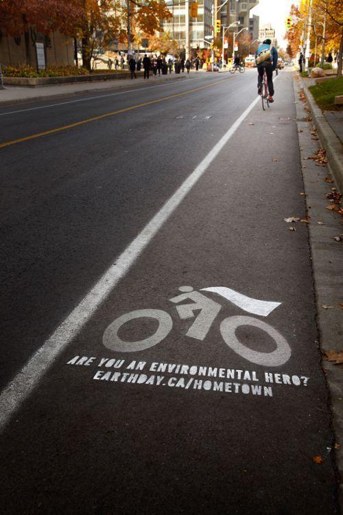 Earth Day Canada, Hometown Hero: Bike Cape, adsoftheworld.com