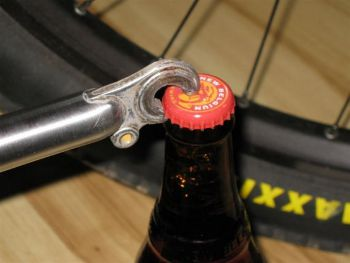 Recycled bike fork bottle opener, www.etsy.com