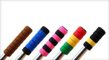 GripRings: A bicycle grip made of individual silicone rings.