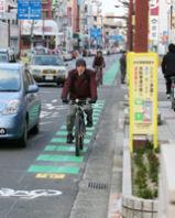 自転車通行指導