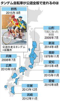 タンデム自転車解禁