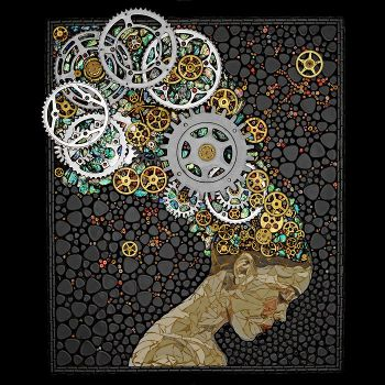 Beautiful Mosaics Made of Gears, www.mymodernmet.com