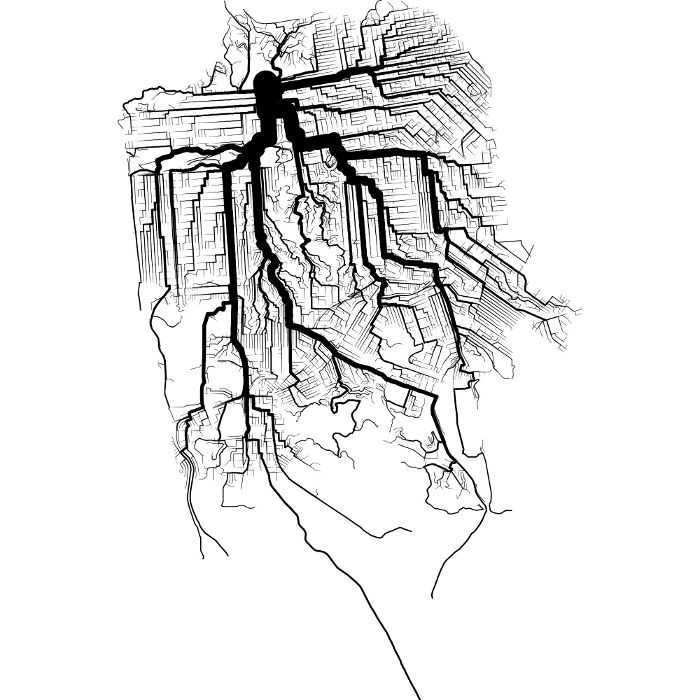 Shortest Path Tree of San Francisco Area for Bicycle Travel