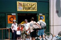 Valet bike parking