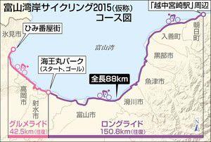 富山湾岸サイクリング