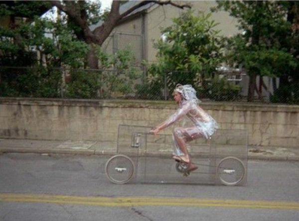 見えない自転車