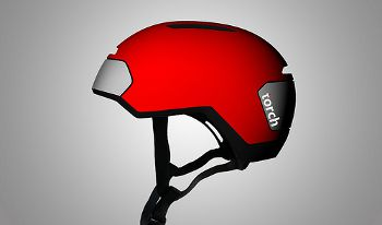 Torch-bicycle helmet with integrated lights