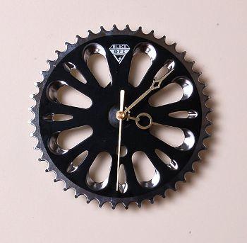 Bicycle Chainwheel Wall Clock, www.etsy.com