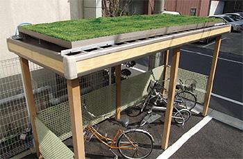 屋上緑化駐輪場