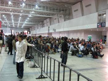 トークショーに集まった観客