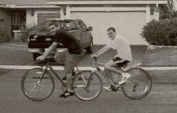 brilliantly simple tandem bike