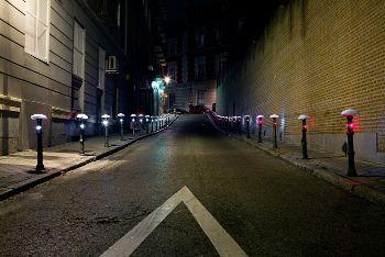Manifestación nocturna de bicicletas, www.luzinterruptus.com