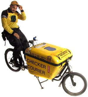 Cargo bike messenger service