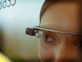 Google Glass, Photo by Antonio Zugaldia,licensed under the Creative Commons Attribution ShareAlike 3.0 Unported.