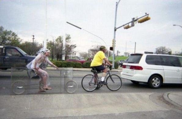 シースルー自転車