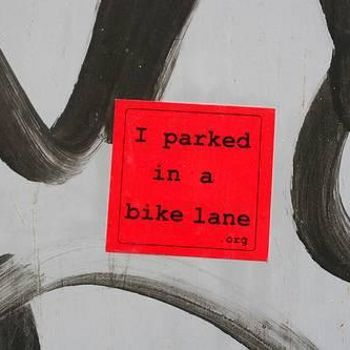 I parked in a bike lane .org