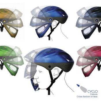 防塵マスク付きヘルメット
