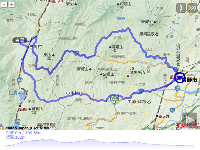 後立山連峰-map