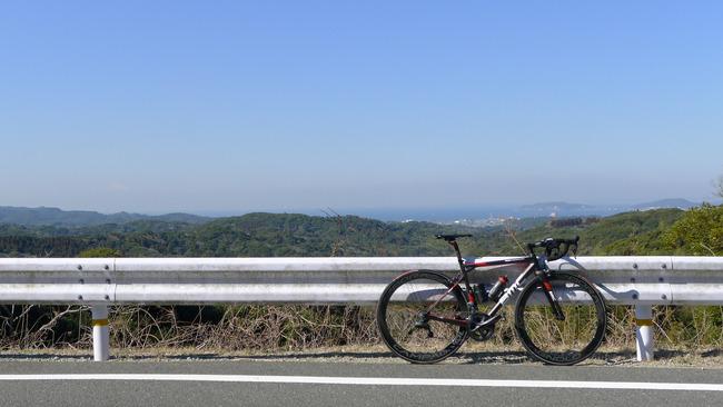 館山湾と富士山を望む