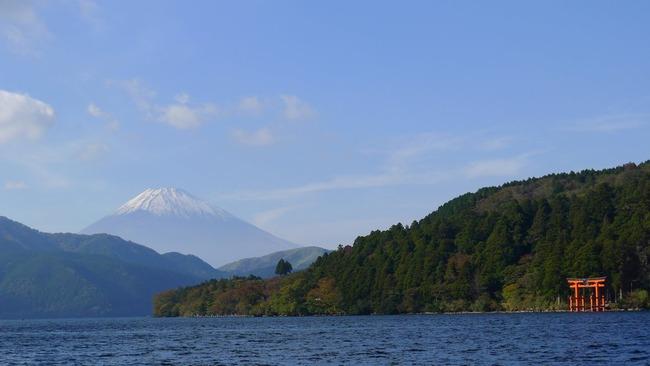 芦ノ湖・富士山・箱根神社鳥居