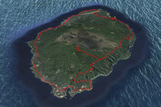 伊豆大島ルートマップ