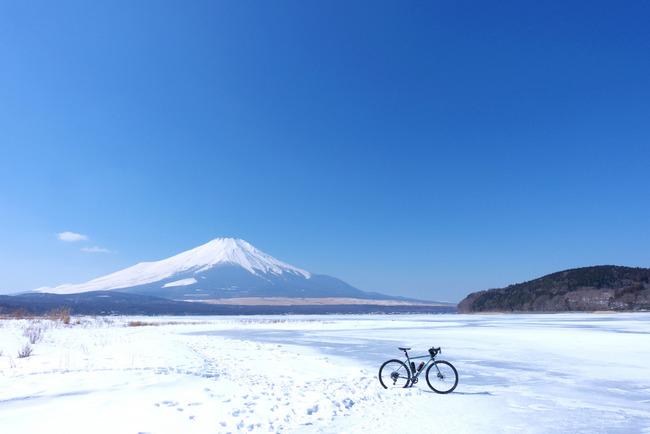 山中湖冬景色