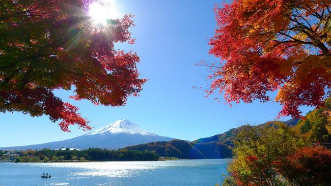もみじトンネルからの富士山