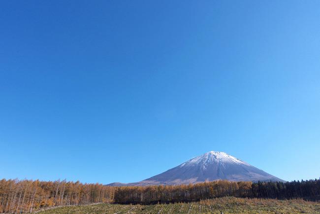 晩秋の富士山-003