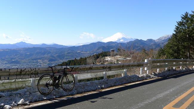 菜の花台と富士山