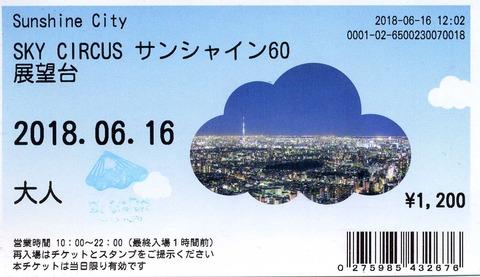 サンシャイン60展望台入場券