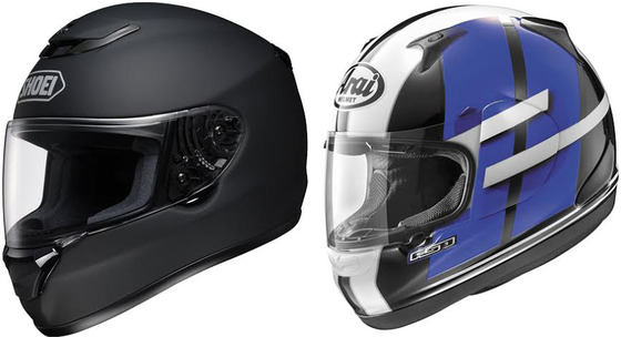 Shoei-Qwest-Vs-Arai-RX-Q