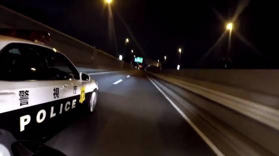 警察が危険運転