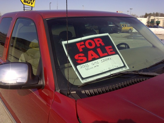 used car for sale red truck