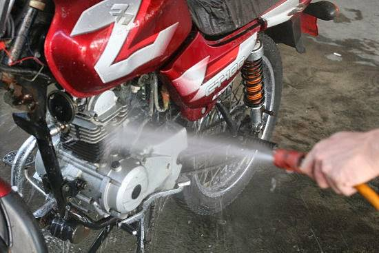 Wash-a-Motorcycle