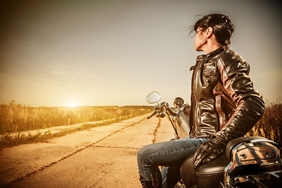 biker_girl_sunset