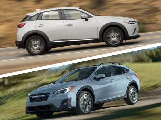 2018-Subaru-Crosstrek-vs-2018-Mazda-CX-3-in-motion