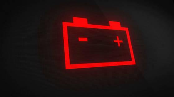 車のバッテリーランプ