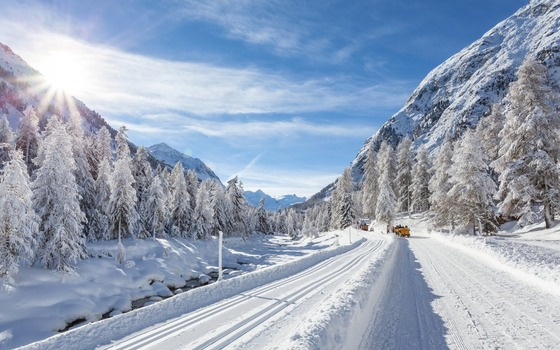 ws_Mountain_Forest_Road_Cars_Snow_1920x1200